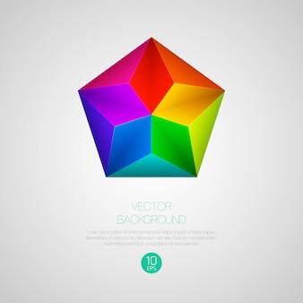Fond de prisme géométrique