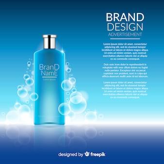 Fond de produit cosmétique