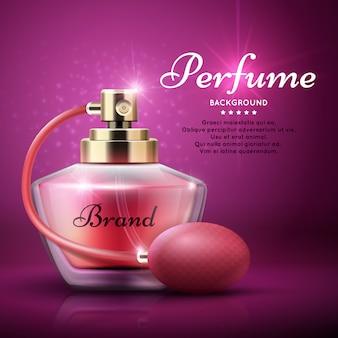 Fond de produit de parfum avec le parfum de femme arôme doux.