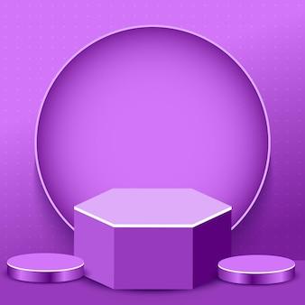 Fond de produit podium abstrait 3d
