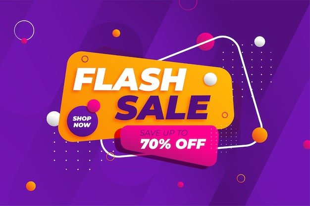 Fond de promotion de bannière de réduction de vente flash