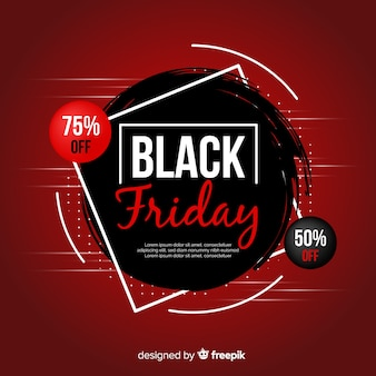 Fond de promotion dégradé noir vendredi