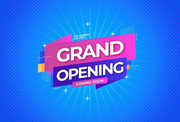 Fond de promotion d'ouverture officielle bientôt
