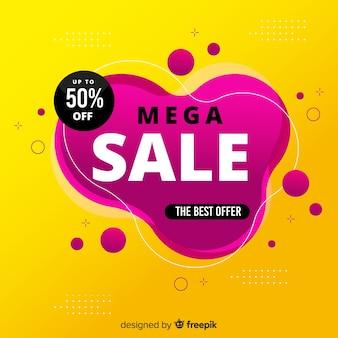 Fond de promotion de vente mega