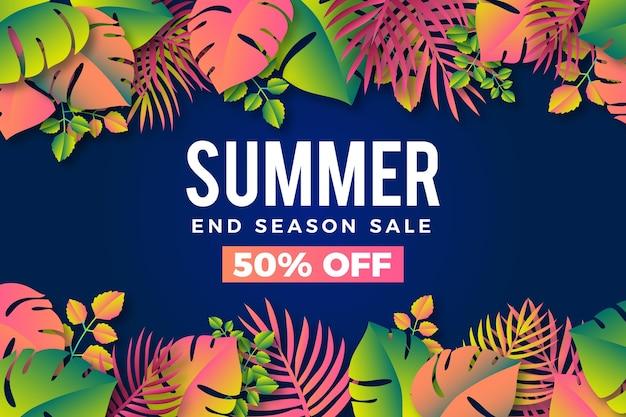 Fond promotionnel de vente d'été coloré