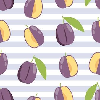 Fond de prune d'été