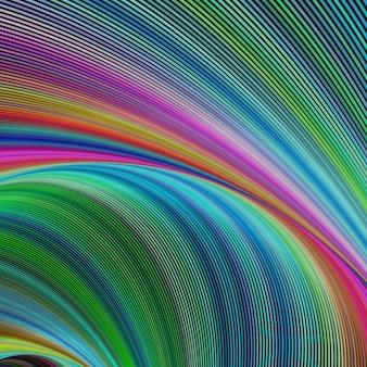 Fond psychédélique avec des formes ondulées