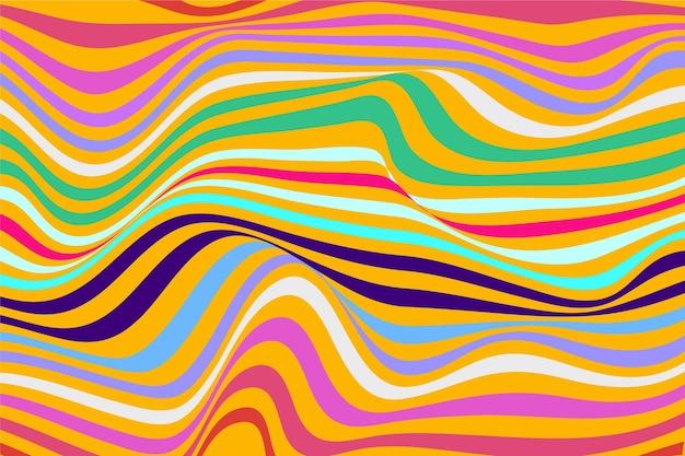 Fond psychédélique groovy coloré dessiné à la main