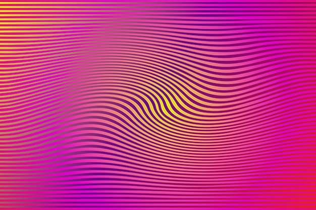Fond psychédélique avec des lignes déformées