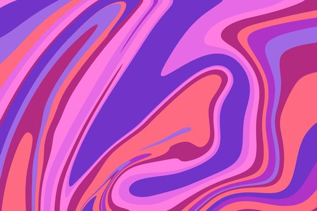 Fond psychédélique plat groovy dessiné à la main