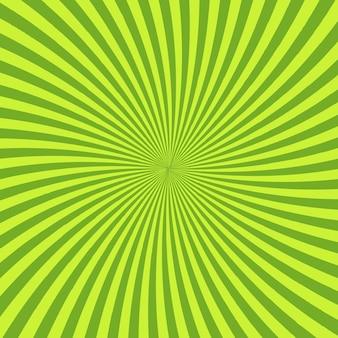 Fond psychédélique vert avec des rayons, des lignes ou des rayures convergeant au centre.