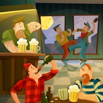 Fond de pub irlandais