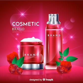 Fond de publicité cosmétique naturelle réaliste