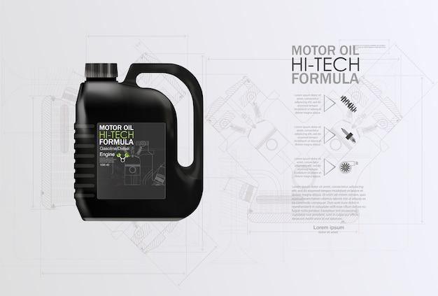 Fond de publicité d'huile moteur