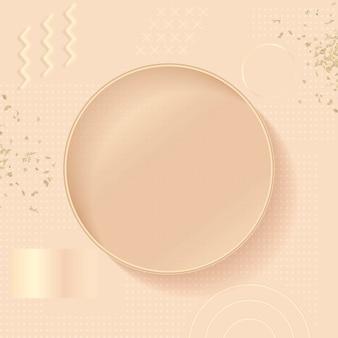 Fond de publicité instagram memphis en or rose