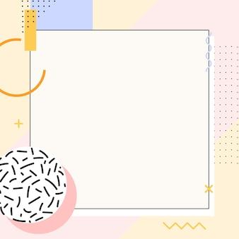 Fond de publicité instagram memphis pastel
