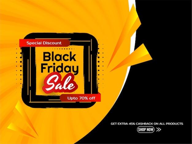 Fond de publicité de réduction de vente vendredi noir
