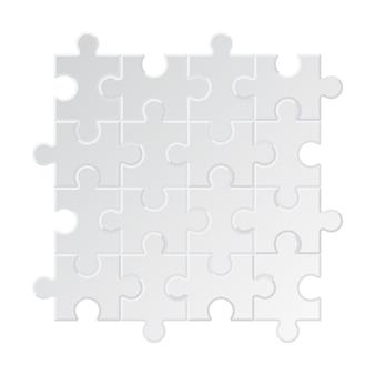 Fond de puzzle. collection d'étiquettes de puzzle d'affaires différentes pièces formes géométriques de puzzle de cercle carré