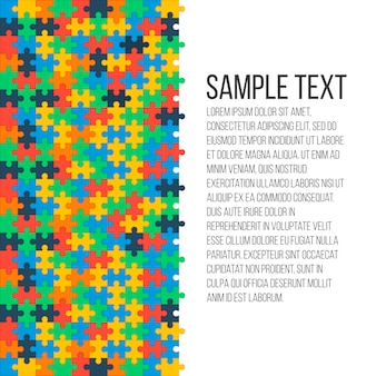 Fond de puzzle coloré