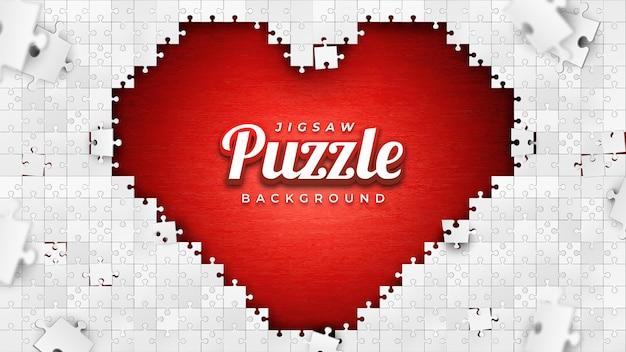 Fond de puzzle de symbole d'amour