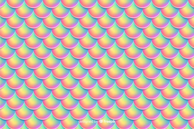 Fond de queue de sirène holographique