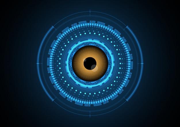 Fond de radar technologie oeil abstrait cercle