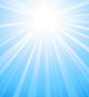 Fond de rafale de lumière du soleil d'été bleu