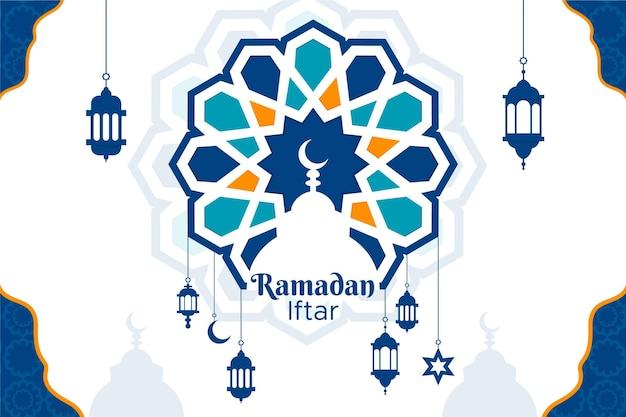 Fond de ramadan iftar