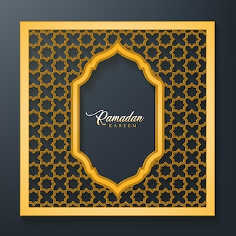 Fond de ramadan kareem avec cadre pattered sans soudure