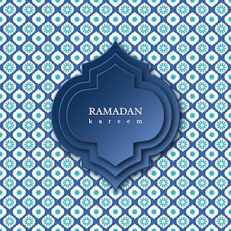Fond de ramadan kareem avec motif décoratif