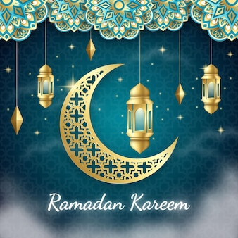 Fond de ramadan kareem réaliste