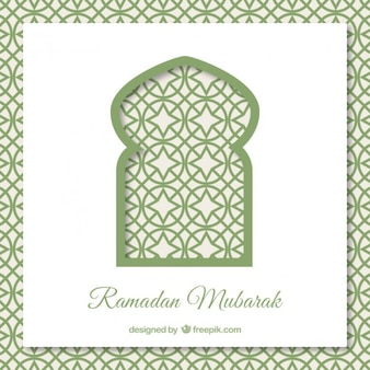 Fond ramadan avec porte arabe