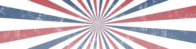 Fond de rayons abstrait grunge. couleurs des états-unis.