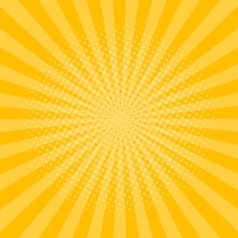 Fond de rayons avec effet de demi-teintes