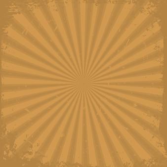 Fond de rayons grunge orange