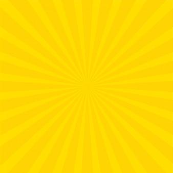 Fond de rayons jaunes lumineux