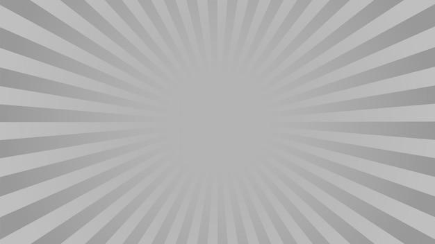 Fond de rayons monochrome. bd, style pop art.