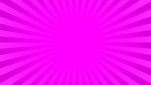 Fond de rayons rose vif