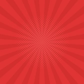 Fond de rayons rouge vif. bandes dessinées, style pop art. illustration vectorielle.