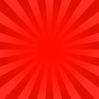 Fond de rayons rouge vif