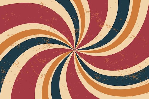 Fond de rayons sipral rétro vintage classique