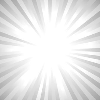 Fond de rayons de soleil abstrait gris