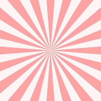 Fond de rayons de soleil abstrait rose.