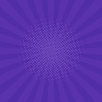 Fond de rayons violet vif. bandes dessinées, style pop art. illustration vectorielle.