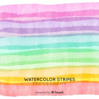 Fond de rayures aquarelle de couleur pastel