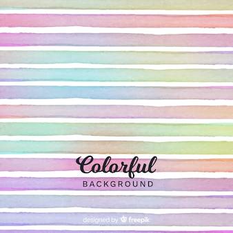 Fond de rayures aquarelles colorées