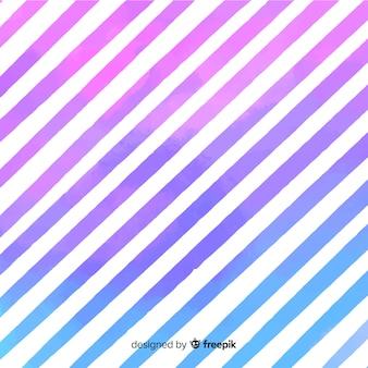 Fond de rayures aquarelles diagonales