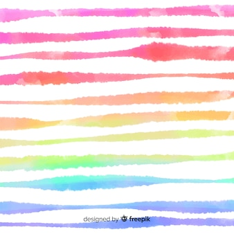 Fond de rayures aquarelles