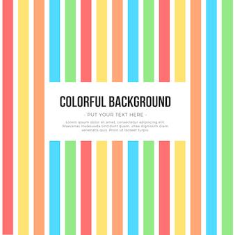 Fond de rayures colorées