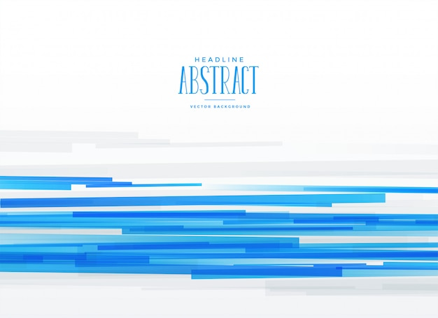 Fond de rayures horizontales bleu abstrait